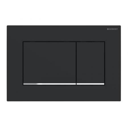 Geberit Sigma30 Przycisk spłukujący czarny mat/chrom połysk 115.883.14.1