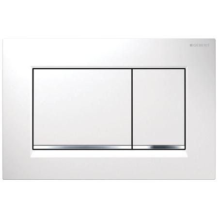 Geberit Sigma30 Przycisk spłukujący do WC, biały/chrom błyszczący 115.883.KJ.1