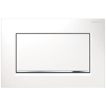 Geberit Sigma30 Przycisk spłukujący do WC, biały/chrom błyszczący 115.893.KJ.1