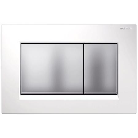 Geberit Sigma30 Przycisk spłukujący do WC, biały/chrom mat 115.883.KL.1
