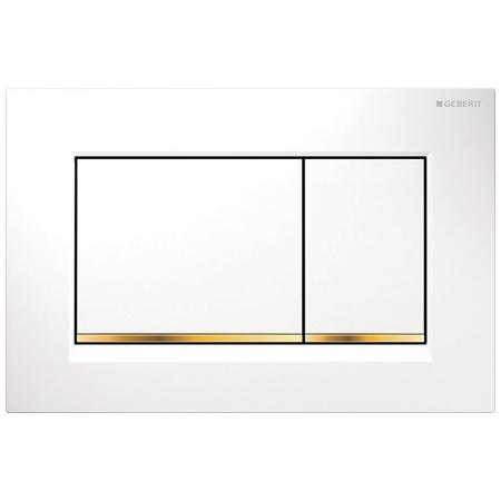 Geberit Sigma30 Przycisk spłukujący do WC, biały/złoty 115.883.KK.1