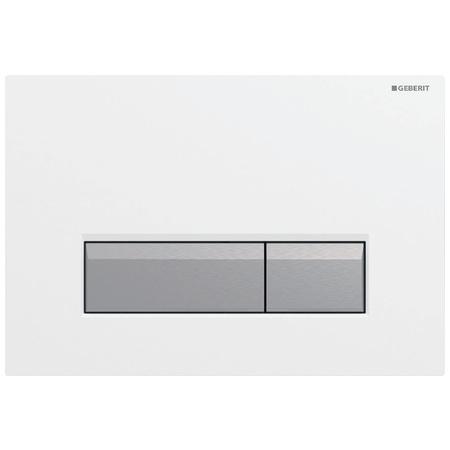 Geberit Sigma40 Przycisk spłukujący do WC z odciągiem, biały/aluminium 115.600.KQ.1