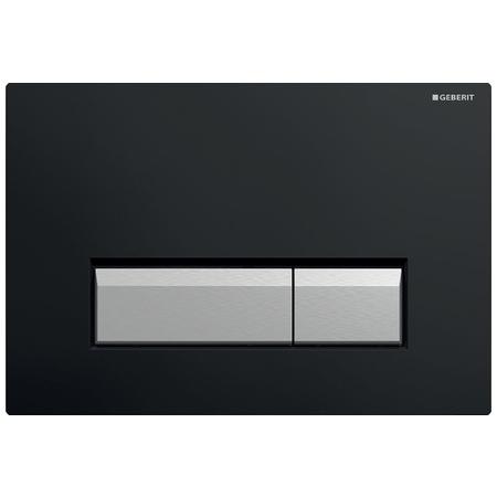 Geberit Sigma40 Przycisk spłukujący do WC z odciągiem, czarny/aluminium 115.600.KR.1
