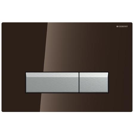 Geberit Sigma40 Przycisk spłukujący do WC z odciągiem, szkło umbra/aluminium 115.600.SQ.1