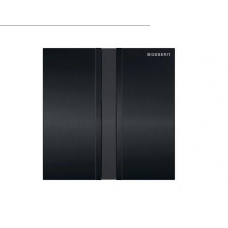Geberit Sigma50 Elektroniczny przycisk spłukujący do pisuaru zasilanie 230 V czarny chrom szczotkowany 116.026.QD.1