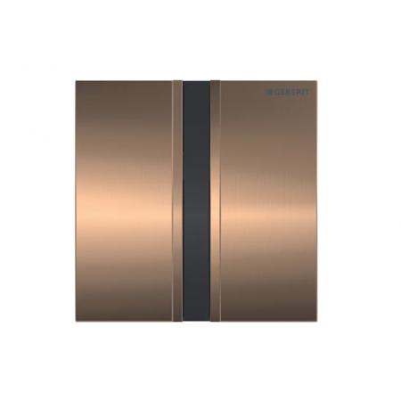 Geberit Sigma50 Elektroniczny przycisk spłukujący do pisuaru zasilanie 230 V czerwone złoto/szczotkowany 116.026.QB.1