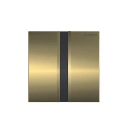 Geberit Sigma50 Elektroniczny przycisk spłukujący do pisuaru zasilanie 230 V mosiądz szczotkowany 116.026.QF.1