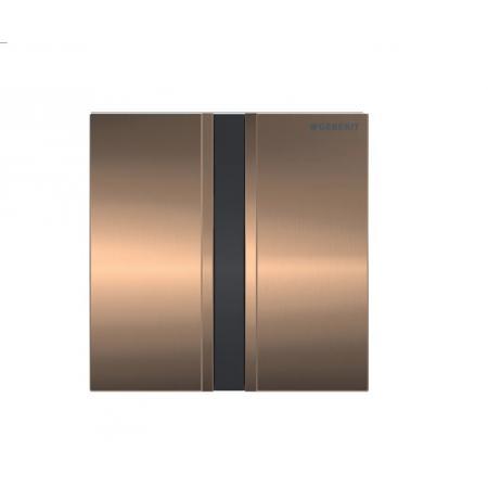 Geberit Sigma50 Elektroniczny przycisk spłukujący do pisuaru zasilanie bateryjne czerwone złoto szczotkowane 116.036.QB.1