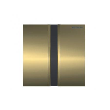 Geberit Sigma50 Elektroniczny przycisk spłukujący do pisuaru zasilanie bateryjne mosiądz szczotkowany 116.036.QF.1