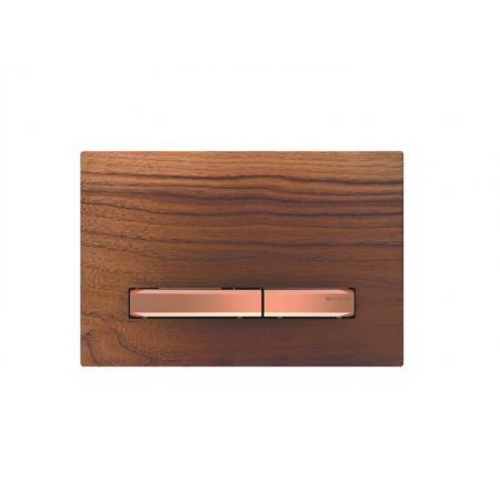 Geberit Sigma50 Przycisk spłukujący amerykański orzech włoski/czerwone złoto 115.670.JX.2
