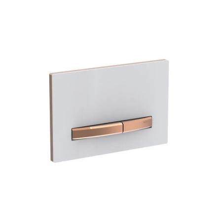 Geberit Sigma50 Przycisk spłukujący biały/czerwone złoto 115.670.11.2