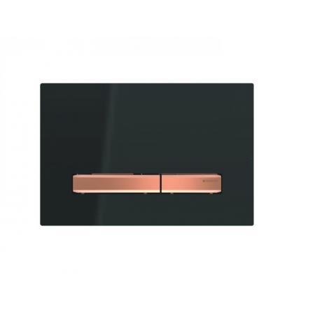 Geberit Sigma50 Przycisk spłukujący czarny/czerwone złoto 115.670.DW.2