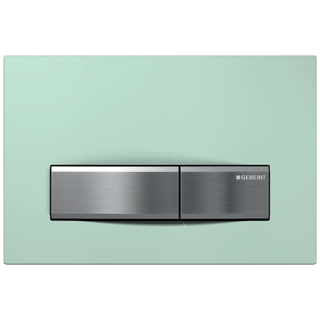 Geberit Sigma50 Przycisk spłukujący do WC, szkło satynowane/zielony 115.788.SE.5