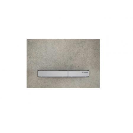Geberit Sigma50 Przycisk spłukujący imitacja betonu/chrom 115.788.JV.2
