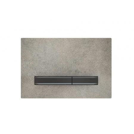 Geberit Sigma50 Przycisk spłukujący imitacja betonu/czarny chrom 115.671.JV.2