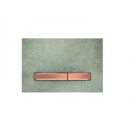 Geberit Sigma50 Przycisk spłukujący imitacja betonu/czerwone złoto 115.670.JV.2