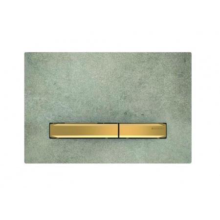 Geberit Sigma50 Przycisk spłukujący imitacja betonu/mosiądz 115.672.JV.2