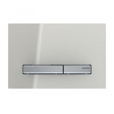 Geberit Sigma50 Przycisk spłukujący WC szary piaskowy/chrom 115.788.JL.2