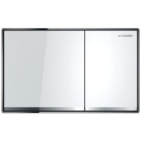 Geberit Sigma60 Przycisk spłukujący do WC, szkło białe 115.640.SI.1