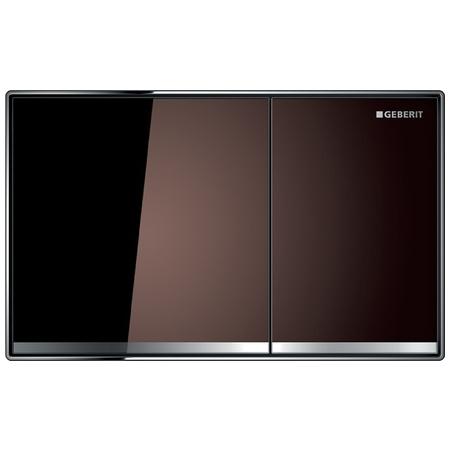 Geberit Sigma60 Przycisk spłukujący do WC, szkło umbra 115.640.SQ.1