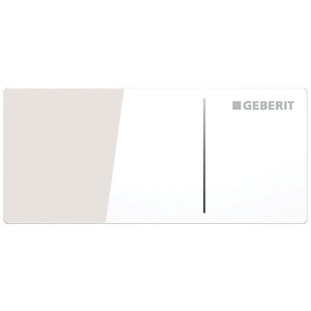 Geberit Sigma70 Przycisk spłukujący do WC typ 70 zdalny, szkło białe 115.630.SI.1