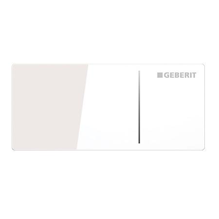Geberit Sigma70 Przycisk spłukujący do WC typ 70 zdalny, szkło białe 115.635.SI.1