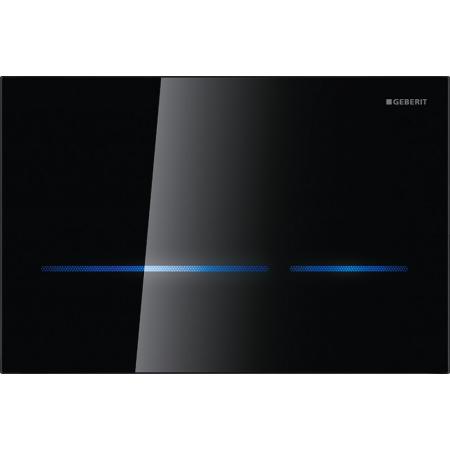 Geberit Sigma80 Przycisk spłukujący do WC elektroniczny, szkło czarne 116.092.SG.1