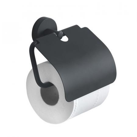 Gedy Eros Uchwyt na papier z klapką wiszący, czarny mat 232514