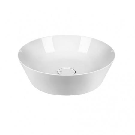 Gessi Cono Umywalka nablatowa 50 cm bez przelewu, bez otworu na baterię, biała white Europe Ceramic 45901.516