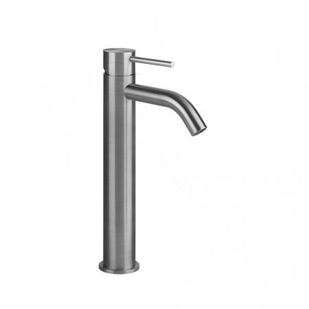 Gessi Flessa Jednouchwytowa bateria umywalkowa stojąca, bez korka, stalowa szczotkowana steel brushed 54009.239