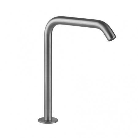 Gessi Flessa Wylewka umywalkowa stojąca 15,6 cm, stalowa szczotkowana steel brushed 54093.239