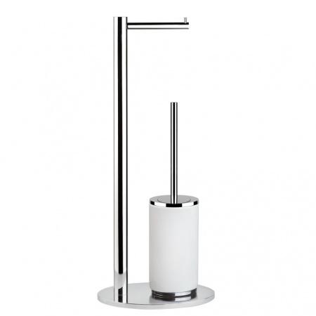 Gessi Ovale Stojak na papier toaletowy z pojemnikiem na szczotkę WC stojący, chrom 25734.031