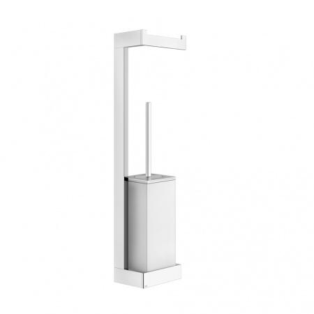 Gessi Rettangolo Stojak na papier toaletowy z pojemnikiem na szczotkę WC wiszący, chrom 20867.031