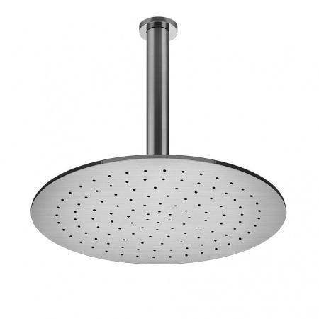 Gessi Shower316 Deszczownica sufitowa o średnicy 35 cm, stalowa szczotkowana steel brushed 54152.239