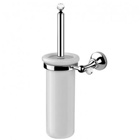 Giulini Giovanni Ibisco Crystal Szczotka wisząca WC ceramiczna - Swarovski, chrom/złoto RG1133SCHZŁ