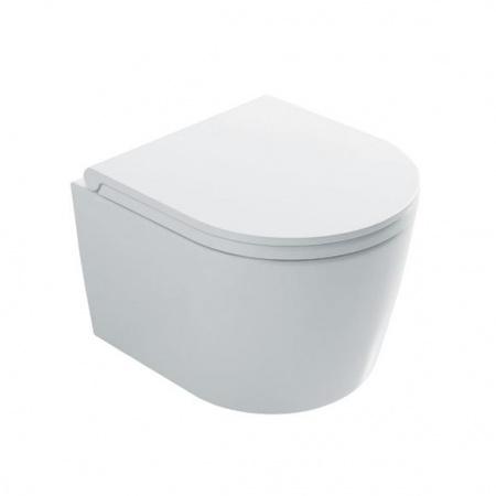 Globo Forty3 Toaleta WC podwieszana 43x36 cm Senzabrida bez kołnierza, biała FOS06.BI