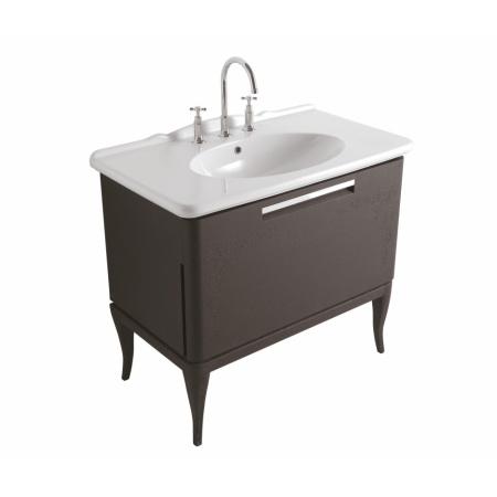 Globo Paestum Szafka stojąca z umywalką 93,5x52,5 cm, ciemny dąb PA0236X