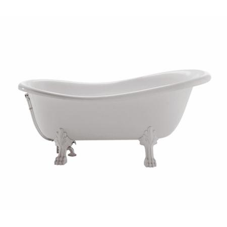 Globo Paestum Wanna wolnostojąca 170x80x73 cm, biała, nogi chrom PA100