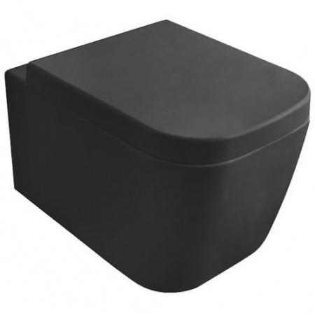 Globo Stone Toaleta WC podwieszana 45x36 cm, czarna matowa SSS03.AR