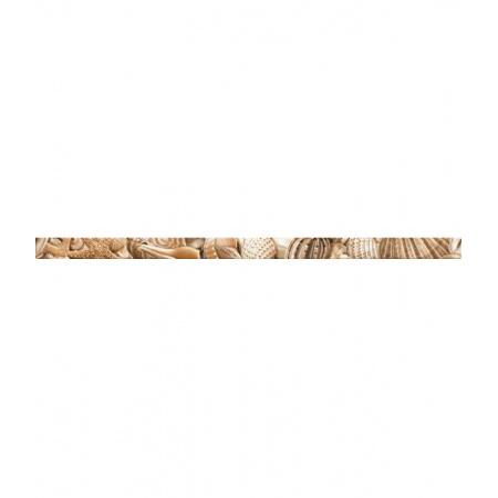 Golden Tile Sea Breeze Shells Listwa ścienna 3x60 cm, beżowa E11451