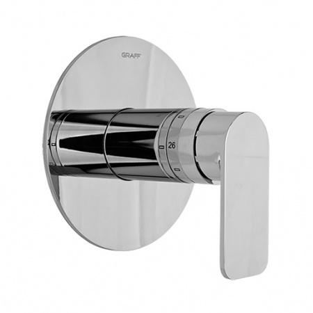 """Graff Sento Zawór termostatyczny podtynkowy 3/4"""" elementy zewnętrzne, chrom 5100630"""