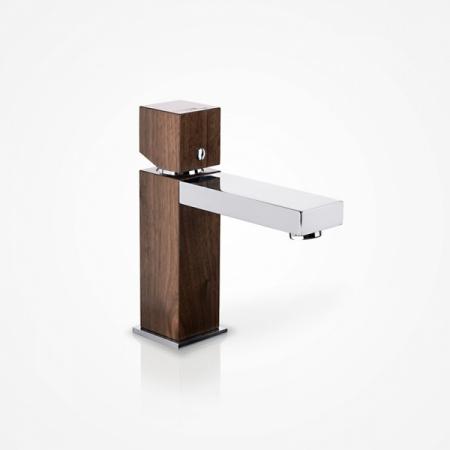 Green Home Design Jednouchwytowa bateria umywalkowa drewniana, orzech amerykański UN03