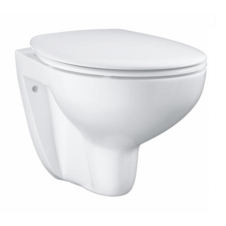 Grohe Bau Ceramic Zestaw Toaleta WC podwieszana 53,1x36,8 cm bez kołnierza z deską sedesową wolnoopadającą, biały 39351000