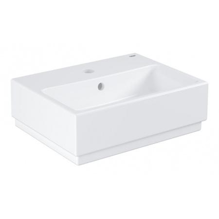 Grohe Cube Ceramic Umywalka wisząca 45,5x35 cm z otworem na baterię przelewem PureGuard, biała 3948300H