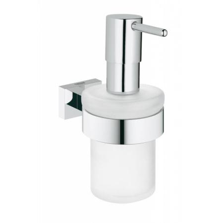 Grohe Essentials Cube Dozownik na mydło w płynie z uchwytem 7,2x12,6x15,7 cm, chrom 40756001