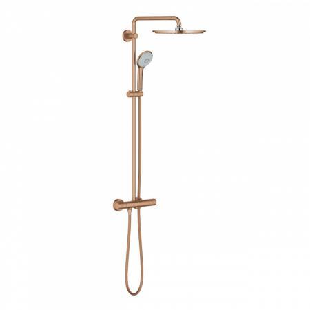 Grohe Euphoria System 310 Zestaw prysznicowy natynkowy z termostatem i deszczownicą brushed warm sunset 26075DL0