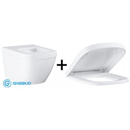 Grohe Euro Ceramic Zestaw Toaleta WC podwieszana 54x37,4 cm z deską sedesową wolnoopadającą, biały 39328000+39331000