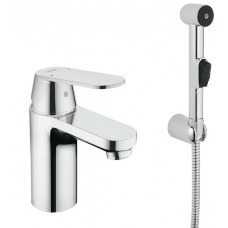 Grohe Eurosmart Cosmopolitan Jednouchwytowa bateria umywalkowa z zestawem prysznicowym, chrom 23125000