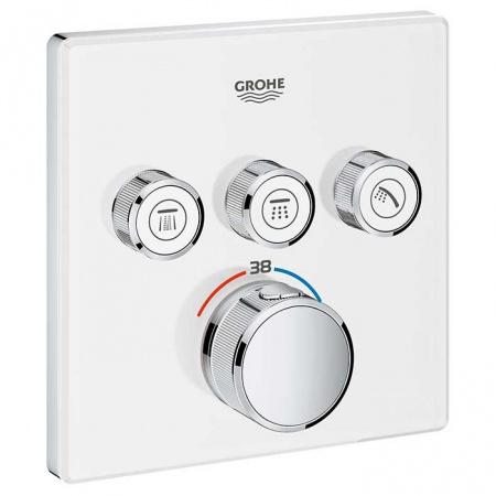 Grohe Grohtherm SmartControl Bateria wannowo-prysznicowa podtynkowa 3-drożna, biały/chrom 29157LS0
