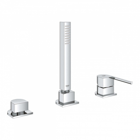 Grohe Plus Bateria wannowo-prysznicowa 3-otworowa z zestawem prysznicowym, chrom 23845003